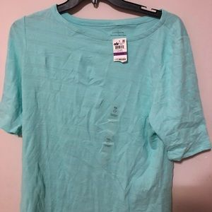 Charter Club New With Tags Blue Short Sleeve Tee